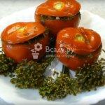 Шкатулочки из помидор — острые малосольные томаты по-армянски